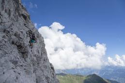 Mountainbiken im Rätikon - Steile Passage