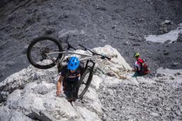 Mountainbiken im Rätikon - Noch ein paar Meter kraxeln