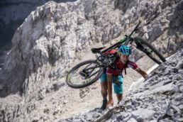 Mountainbiken im Rätikon - Martin ist oben