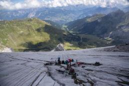 Mountainbiken im Rätikon - Pause vor der Abfahrt