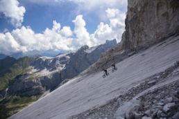 Mountainbiken im Rätikon - Abfahrt mit Aussicht