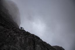 Mountainbiken im Rätikon - Abstieg im Regen