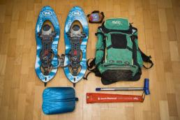 Downthehill Snowride - Ungewöhnliches Gepäck für eine Mountainbiketour