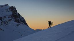 Downthehill Snowride - Mountainbiken im Winter, ein ungewöhnlicher Anblick