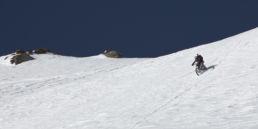 Downthehill Snowride - Mountainbiken im Steilhang