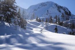 Snowboardtouren Kleinwalsertal - Licht- und Schattenspiel
