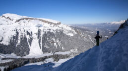 Snowboardtouren Kleinwalsertal - Fernblick mit Ifen