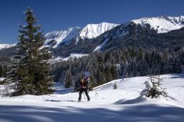 Snowboardtouren Kleinwalsertal - der Aufstieg beginnt