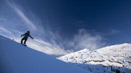 Snowboardtouren Kleinwalsertal - der Gottesacker im Hintergrund
