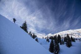 Snowboardtouren Kleinwalsertal - talwärts