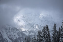 Snowboardtouren Allgäu - Blick ins Hochgebirge
