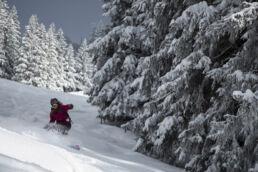 Snowboardtouren Allgäu - Powder in der Abfahrt
